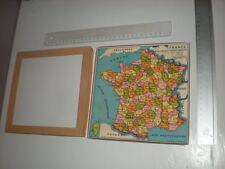 PUZZLE CARTE DE FRANCE DES DEPARTEMENTS PUZZLES ANCIEN PETIT VINTAGE
