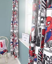 """Ultimate Spiderman 'Metropolis' Readymade Curtains 66"""" x 54"""" Drop Curtains"""