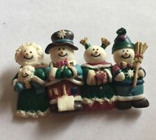 "Vintage Christmas Snowman House Of Lloyd 2-3/4"" Brooch Pin Cj-20"