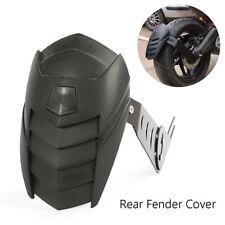 Black PP Motorcycle Rear 15'' to 16'' Wheel Cover Fender Splash Guard W/ Bracket