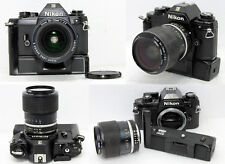 Nikon EM 35mm SLR Film Camera w/ Nikon Series-E ZOOM 36-72mm f/3.5 + MD-E Works