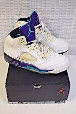 Nike Air Jordan Retro 5 V White Grape 136027 108 Size 10 - Free Shipping!