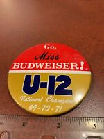 Go Miss Budweiser U-12 National Champion Pin Button FREE SHIPPING