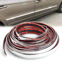 6M Car Styling Chrome Side Rocker Panel Trim Door Window Body Molding Decoration