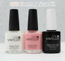 CND VINYLUX Weekly Polish American French Manicure Kit 3pc Set: 2 Color+Top Coat