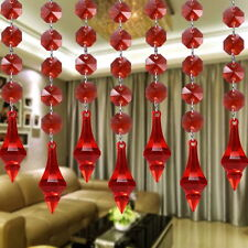 10pcs Acrylic Crystal Beads Garland Chandelier Hanging Wedding Party Decor