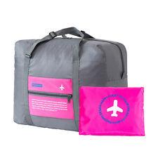 Foldable Travel Bag Luggage Hand Shoulder Storage Waterproof Carry-on Duffle U07 Pink