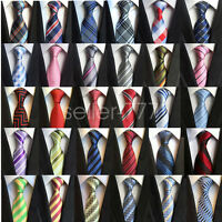 Fashion Classic Striped Tie JACQUARD WOVEN Men Silk Suits Ties Necktie Gift