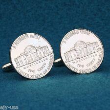Monticello Plantation Nickel Coin Cufflinks, Thomas Jefferson's Virginia Home
