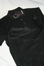 Nike Tiger Woods DriFit Drop Needle Golf Shirt Size Small all Black Polo Nwt