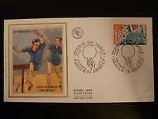 FRANCE PREMIER JOUR FDC YVERT 1961  TENNIS DE TABLE  1,10F  PARIS ET ANNECY 1977