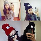 Hip Hop Unisex Men's Women's Beanies Winter Warm Acrylic Cat Knit Wool Cap Hats