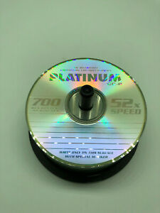 Platinum CD-R  700MB 52x Speed - Spindel - 39 Stück Neu unbenutzt