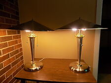 LITE SOURCE Silver Dome Lamp Mid Century Art Deco Flying Saucer CALIFORNIA