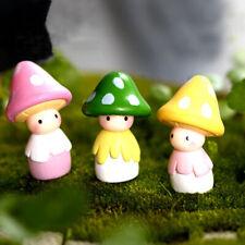 Garden Miniature Mushroom Doll Figurine Plant Pot Fairy Crafts I1W9 S2U9