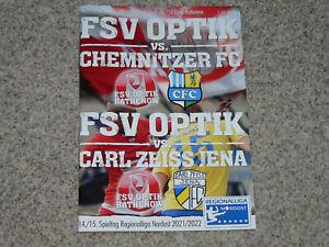 Progr. FSV Optik Rathenow - FC Carl Zeiss Jena / Chemnitzer FC  RL 21/22