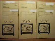 Konvolut Englisch DDR DFF Fernsehen English for you Begleithefte 1 bis 6 1966