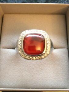 NEU 925 Silber Rhodium Ring Gr. 21 (65) großer bequemer Ring mit Farbstein