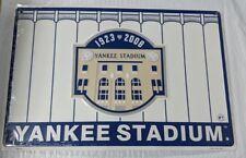 New York Yankees Yankee Stadium 1923 2008 Car Truck Metal 18 x 12 Sign Wall Art