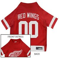 Detroit Red Wings NHL Pets First Licensed Dog Pet Hockey Jersey Sizes XS-XL