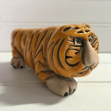 Artesania Rinconada Classic Retired Tiger Figurine Uruguay Art Pottery Handmade