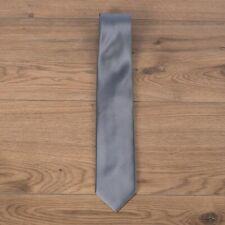 BRIONI 240$ Classic Gray Tie In Plain Silk