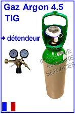 BOUTEILLE DE GAZ LINDE ARGON 4.5 + MANO DETENDEUR / POSTE A SOUDER SOUDAGE TIG