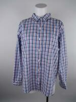 L.L. Bean Women's sz L Multicolor Cotton Long Sleeve Button-Down Plaid Shirt Top