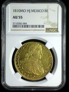 Spanish Colonial Mexico 1810 Mo TH Gold 8 Escudos *NGC AU-55* Ferdinand VII Typ