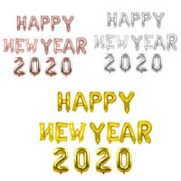 New 16inch Happy New Year 2020 Sliver/Rose Gold Foil Letter Balloons Party Decor