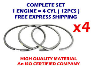 4CYL Piston rings set 77mm STD for FORD E3 323 UC 08-283900-00 E3 1296cc TD25129