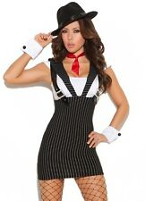 Sexy Gangster Costume Small S Women Machine Gun Mobster 1920 Halloween Dress