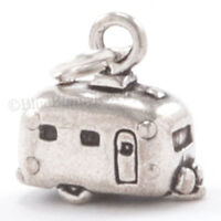 3D TRAVEL TRAILER AIRSTREAM Camper Charm Pendant in Solid 925 Sterling Silver