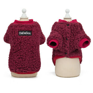Warm Fleece Clothes for Small Medium Dogs Cat Boys/Girls Winter Coat Outfit Vest