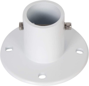 """ECOTRIC 1.9"""" Slide Deck Anchor Flange w/Flange Bolt for In-ground Swimming Pools"""