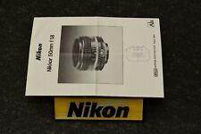 nikon 50 1.8 ais, manual English, 98% mint-, original, beautiful, very nice, top