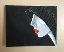 Acrylic Small (up to 12in.) Black Art Paintings