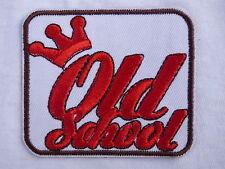 ECUSSON PATCH THERMOCOLLANT aufnaher toppa OLD SCHOOL biker hot rod rockabilly