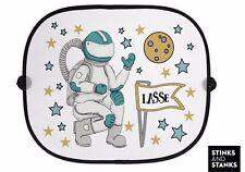 Auto Sonnenschutz Sonnenblende Astronaut Sterne mit Wunschname AB020