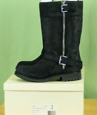 407 NIB Coach women GRACEY waxy SUEDE leather BOOTS BLACK NEW 8.5 M