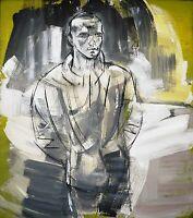 Heiko Pippig *1951 Leipziger Schule: Junger Mann 165 x 145 cm Acryl 1990er Jahre