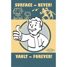"""FALLOUT 4 laminated POSTER """"LICENSED"""" BRAND NEW VAULT FOREVER SIZE 61cm X 91.5cm"""