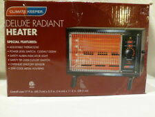 Climate Keeper Radiant Room Electric Wire Element Box Heater Black 1500W/5120BTU