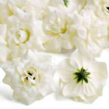 50pcs Artificial Silk Rose Flower Heads Bulk Wedding Decor DIY 5x3cm Ivory OBS