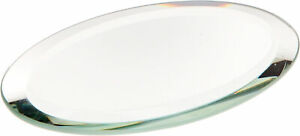 Plymor Oval 3mm Beveled Glass Mirror, 2 inch x 3 inch (Pack of 3)