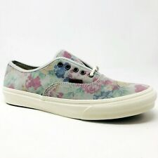 Vans Authentic Slim (Suede Floral) Marshmallow Womens Casual Shoes