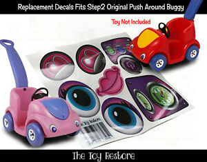 The Toy Restore Replacement Stickers fits Step2 Push Around Buggy Decals Girl