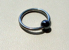 "Captive Bead Ear Ring 12g 1/2"" 316L Hematite  Ball"