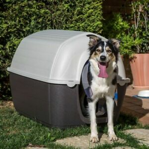Dog Kennel Plastic Outdoor Safe Waterproof Shelter Robust Easy Assemble Quality
