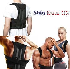 Men Women Adjustable Back Shoulder Posture Corrector Support Brace Therapy Belt